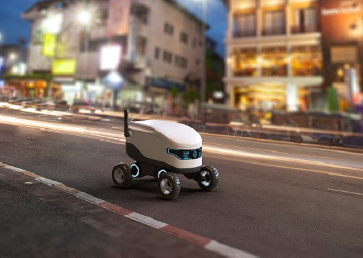 Delivery Robots With AI On the March 1